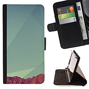 Momo Phone Case / Flip Funda de Cuero Case Cover - Geometría Montaña;;;;;;;; - HTC Desire 820