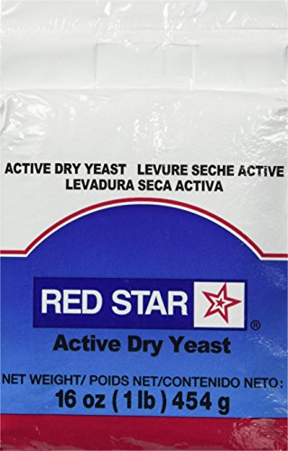 Lesaffre Red Star Bakers Active Dry Yeast 1 lb. Vacuum Pack (Red Star Dry Yeast)