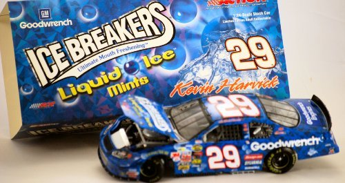 2004 - Action / NASCAR - Kevin Harvick #29 - GM Goodwrench / Liquid Ice Mints - Ice Breakers - Chevy Monte Carlo Club Car - Very Rare 1 of 504 - 1:24 Scale Diecast Stock Car - Limited Edition - Collectible