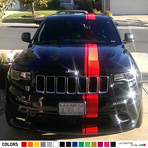 Decal Sticker Vinyl Offset Euro Racing Stripe Compatible with Grand Cherokee SRT8 (Grand Cherokee Srt8 Rims compare prices)