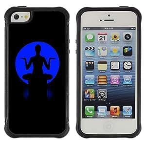 Be-Star único patrón Impacto Shock - Absorción y Anti-Arañazos Funda Carcasa Case Bumper Para Apple iPhone 5 / iPhone 5S ( Blue Buddha )