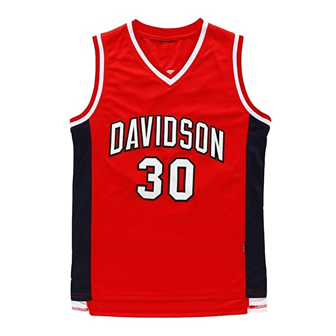 Jersey -Steph Curry 30# Davidson College Wildcat All Star Hombres ...