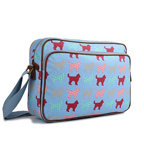 Unisex Cross Universe Body Dog Miss Cat School Dog Blue Shoulder Messenger Lulu Bag Oilcloth Large Satchel A4 Fpp5qAz