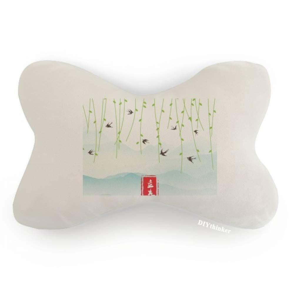 DIYthinker Spring Begins Twenty Four Solar Term Car Neck Pillow Headrest Support Cushion Pad