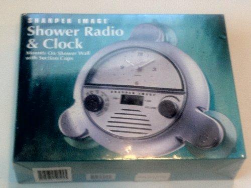 Sharper Image Shower Radio & Clock