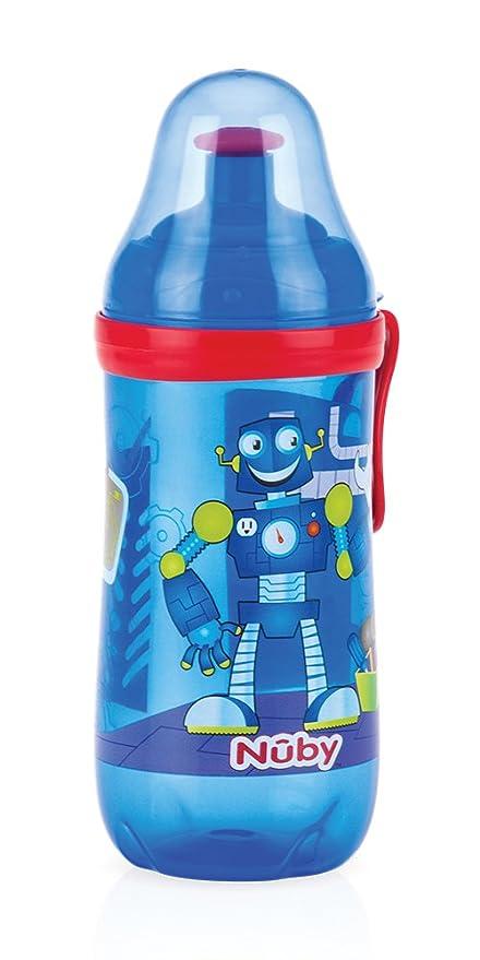Nuby Pop-Up Sipper - Taza con boquilla de silicona y tapa ...