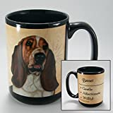 Dog Breeds (A-K) Basset 15-oz Coffee Mug Bundle with Non-Negotiable K-Nine Cash by Imprints Plus (014)
