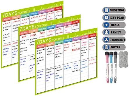 LOBZON Calendario de Pizarra magnética A3 - Tableros Recordatorios ...
