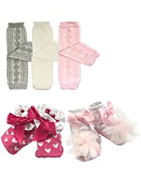 3 Pair Little Girls Argyle Leg Warmers