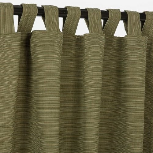 Sunbrella Outdoor Curtain with Tab Top - Dupione Laurel, 50x108