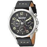 Timberland Men's 'BARTLETT II' Quartz Stainless Steel and Leather Dress Watch, Color:Black (Model: TBL14844JS02)