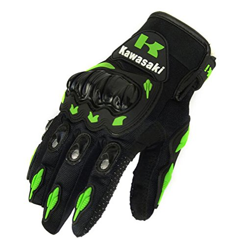 JIN Glove Motorcycle gloves,Cycling gloves, mountain bike gloves, road cycling gloves, cycling gloves, half finger, anti-slip, sports, work gloves, kawasaki, l by JIN Glove