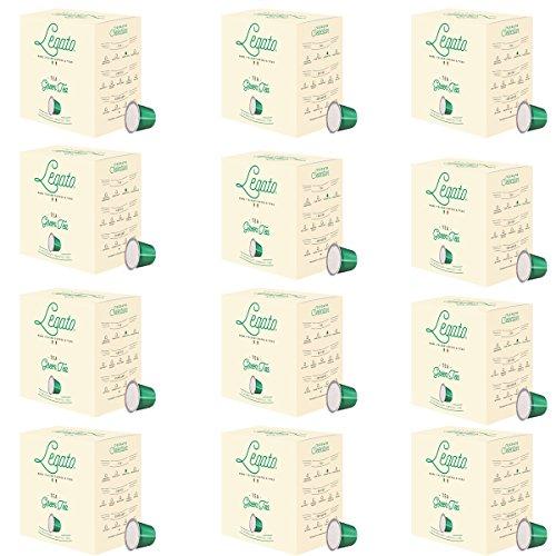 Legato Single Serve Tea Capsules – Nespresso Compatible – 120 Count (Green Tea)