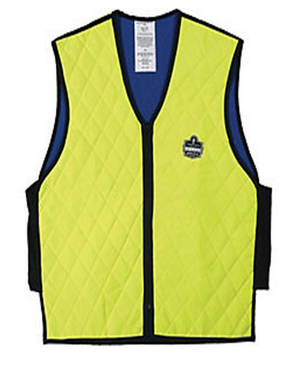 Ergodyne 12537 Chill-Its Evaporative Cooling Vest, 3X-Large, Lime/Yellow