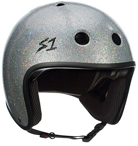 S-ONE Retro Lifer CPSC - Multi-Impact Helmet -Silver Glitter - Small (21