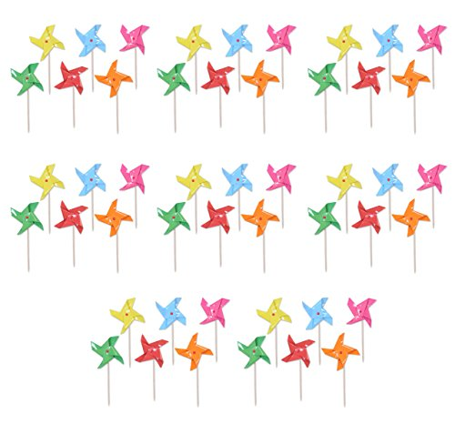 Léopard 5993148pièces Pinwheel Picks, 12,7cm, Multicolore