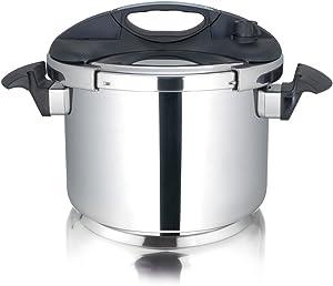 Cuisinox POT-E10 Deluxe Pressure Cooker, 10.0-Liter