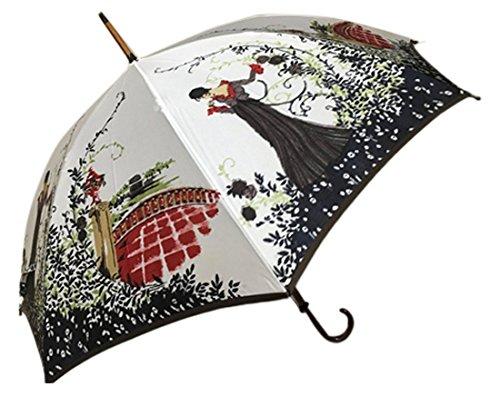 Mont Blanc (モンブラン) 高級美術洋傘ほぐし織り 雨傘 ゆり グリーン 折傘 B0722KFJ2S グリーン|ゆり グリーン