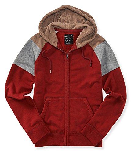 Aeropostale Mens Colorblock Full Zip Hoodie Sweatshirt 606 S