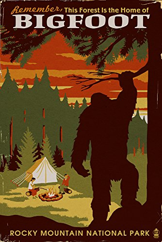 Rocky Mountain National Park - Home of Bigfoot (16x24 Giclee Gallery Print, Wall Decor Travel Poster) by Lantern Press
