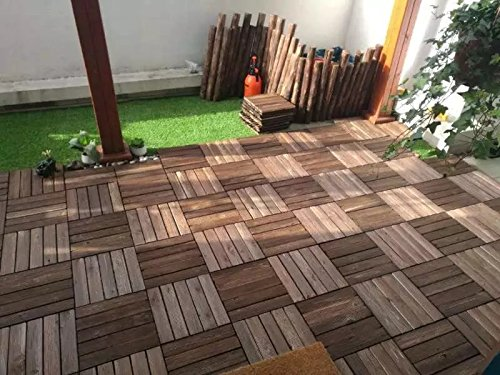 Interlocking Teak Deck Tiles