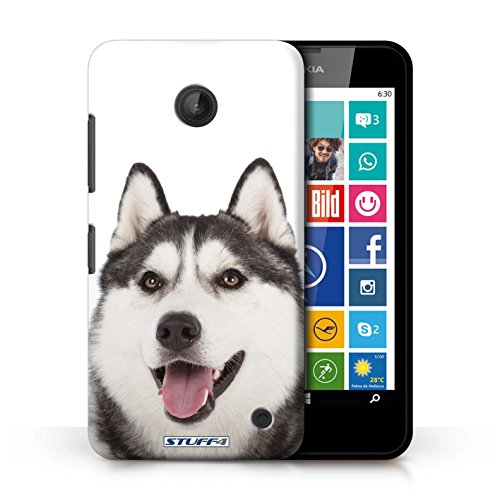 Kobalt® Imprimé Etui / Coque pour Nokia Lumia 630 / Husky/Esquimau conception / Série Chiens