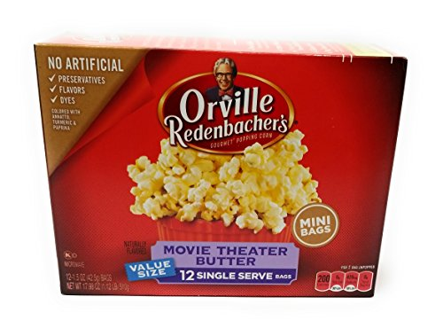 Orville Redenbachers Gourmet Popcorn Movie Theater Butter 12 Ct. Mini (Pack of 2) (Mini Microwave Popcorn)