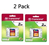 Transcend 2 GB SD Flash Memory Card TS2GSDC (PACK OF 2)