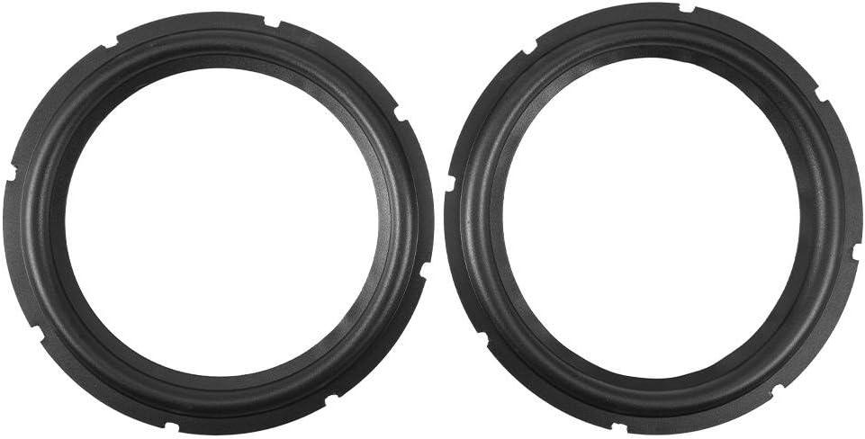 Altavoz de Goma Perforada 10 Pulgadas Foam Edge Subwoofer Surround Ring Piezas Repuesto para Reparación Altavoz o Bricolaje (Negro)(Two Pieces)