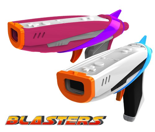 Toy Blaster Guns - Space Toy Blasters for Wii/Wii U Game Controller. White and Pink Blasters!