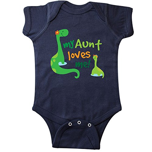 (inktastic - My Aunt Loves Me Nephew Infant Creeper 18 Months Navy Blue 1c0f2)