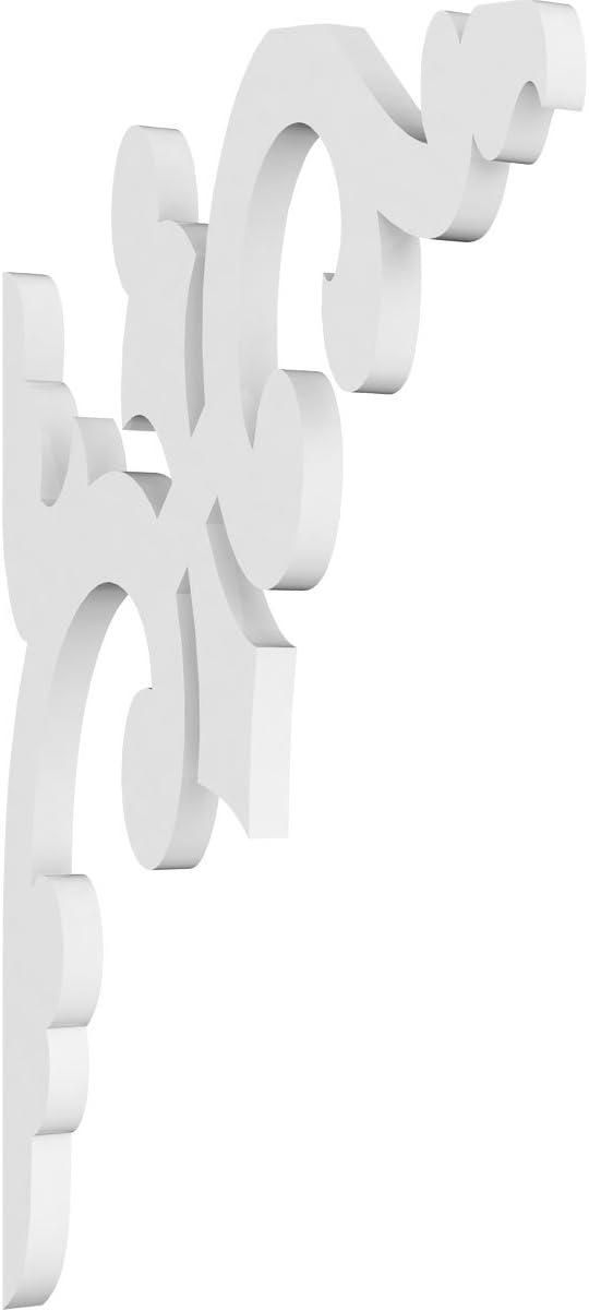 , Ekena Millwork BKT03X04X05WG-CASE-2 3 1//2 inch W x 4 inch D x 5 inch H Wigan Bracket 2-Pack
