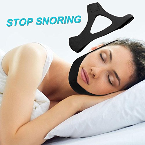 Yuminer Comfortable and Adjustable Anti Snore Chin Strap--Best Stop Snoring Solution & Natural Sleep Aid with Instant Snore Relief and Ease Breathing (black)