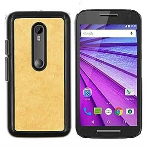 Cubierta protectora del caso de Shell Plástico || Motorola MOTO G3 ( 3nd Generation ) || Textura amarilla @XPTECH