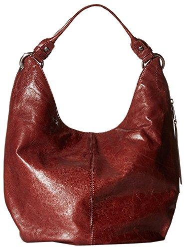 [Hobo Women's Leather Vintage Gardner Shoulder Handbag (Mahogany)] (Hobo Purses)
