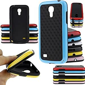20150511 BIG D Double Color Fashion Soft Case for Samsung Galaxy S4 Mini I9190(Assorted Colors) , Red