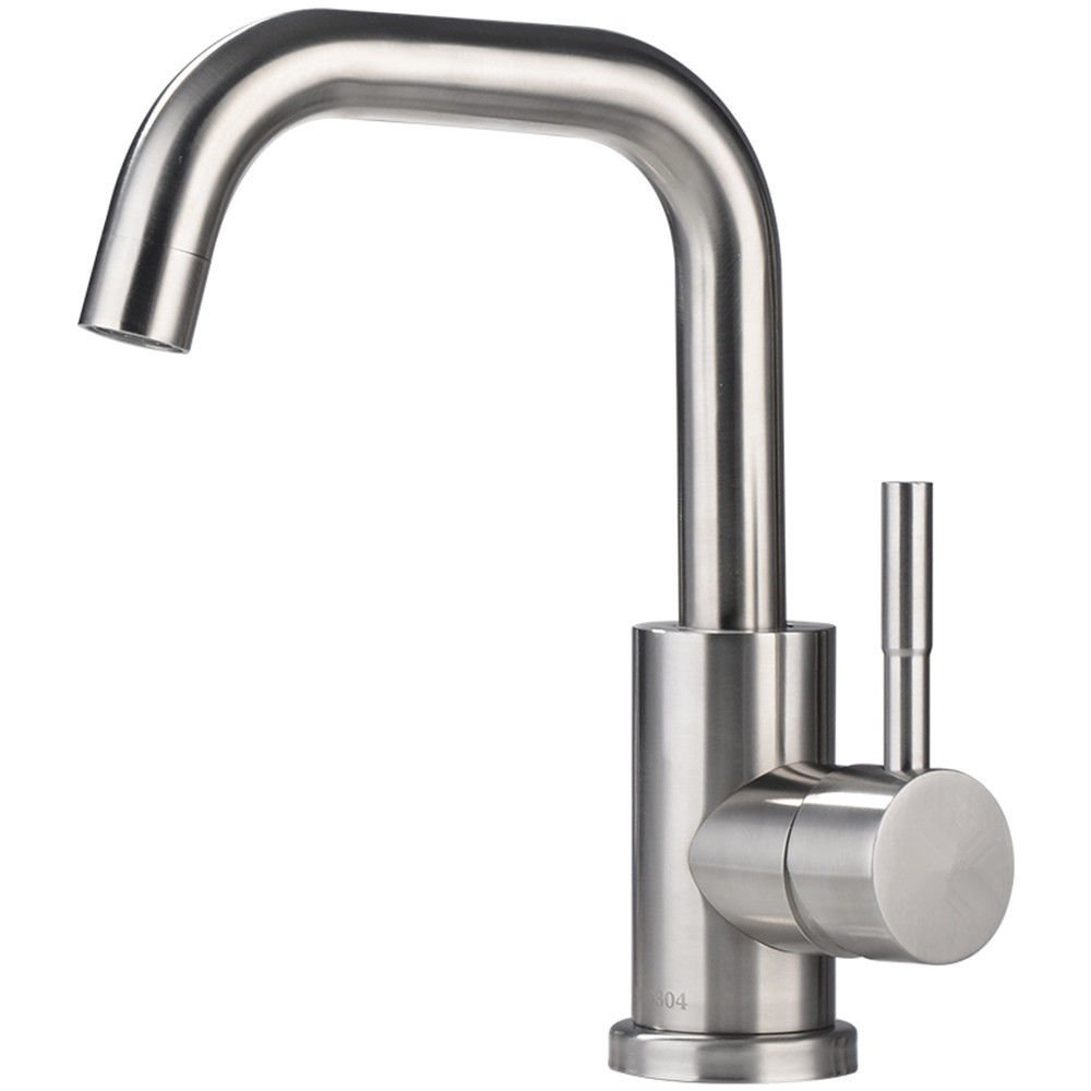 Pengei Tap Basin Mixer Kitchen Sink Mixer Faucet Lead-Free 304 Stainless Steel 7 Font