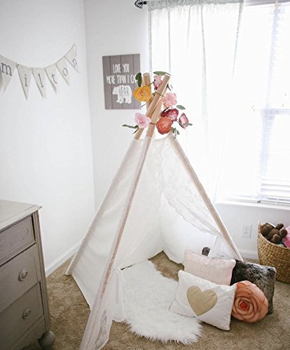 Lace teepee for kids by TinyTeepees