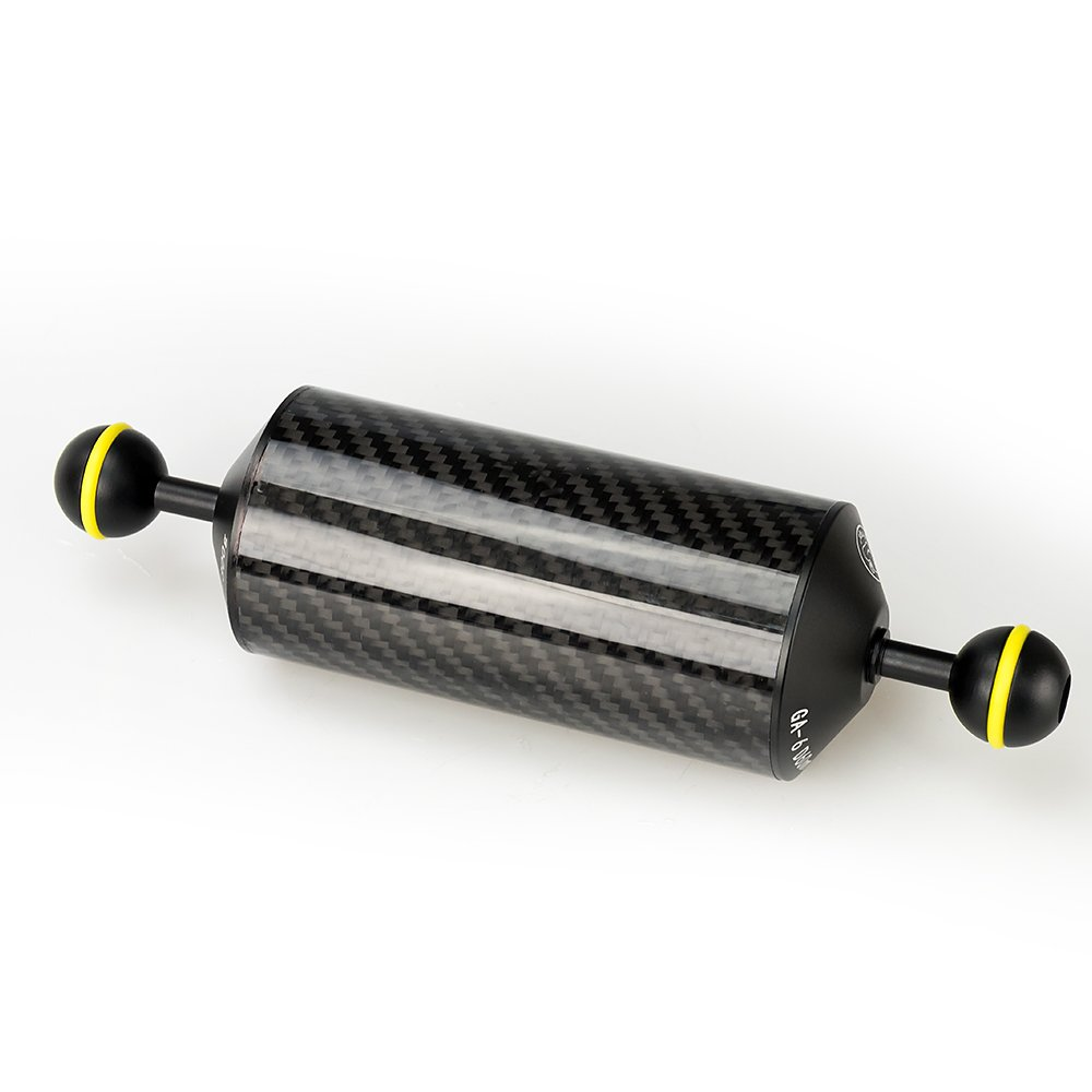 Sea frogs 8'' / 20.5 cm D60mm Carbon Fiber Underwater Float Arm for Video Light/Strobe mounting by Sea frogs