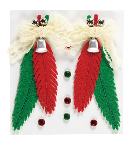 Ek Jolees Boutique Felt - EK Success Brands Jolee's Boutique Dimensional Stickers, Red Felt Feathers