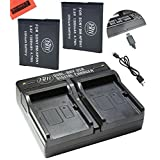 BM Premium 2 NP-BN1 Batteries and Dual Charger for Sony CyberShot DSC-QX10, QX30, QX100, WX5, WX9, WX50, WX70, WX150, W560, W570, W610, W620, W650, W690, W800, W830, TX10, TX20, TX30, TX66 Camera