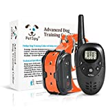 PetSpy M86N Dog Training Shock Collar for Dogs with Vibration Electric Shock and Beep Rechargeable and Waterproof Remote Trainer (10-140 lbs)