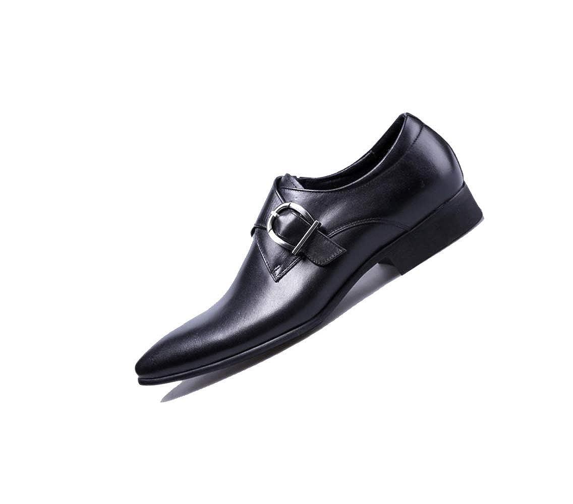 Britisch Spitze Männer Schnalle Lederschuhe Jugend Business Kleid Schnalle Männer Hochzeit schwarz d72935