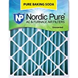 Nordic Pure 12x24x4 Pure Baking Soda Odor Deodorizing AC Furnace Air Filters, 1 Pack