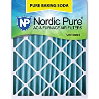 Nordic Pure 20x24x4PBS-1 Pure Baking Soda Air Filters (Quantity 1), 20 x 24 x 4