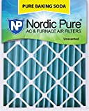 Nordic Pure 20x25x4 (3-5/8 Actual Depth) Pure Baking Soda Pleated AC Furnace Air Filter, Box of 1