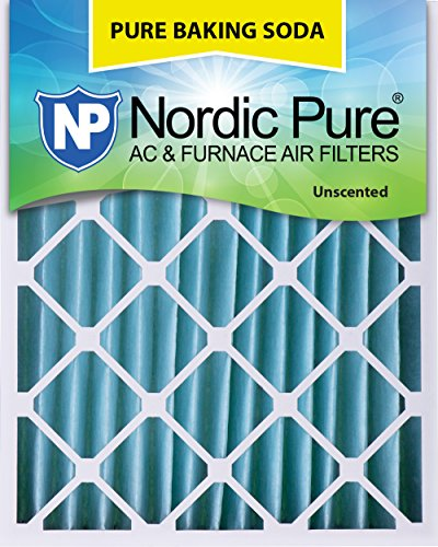 Four Pleated (Nordic Pure 20x25x4 (3-5/8 Actual Depth) Pure Baking Soda Pleated AC Furnace Air Filter, Box of 1)
