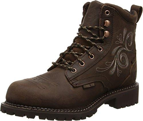 Justin Ladies Gypsy Steel Toe Wtrprf Work Boots 9 (Justin Gypsy Girl Boots)