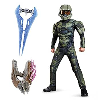 Halo: Master Chief Muscle Child Costume and Accessory Kit Bundle - Small