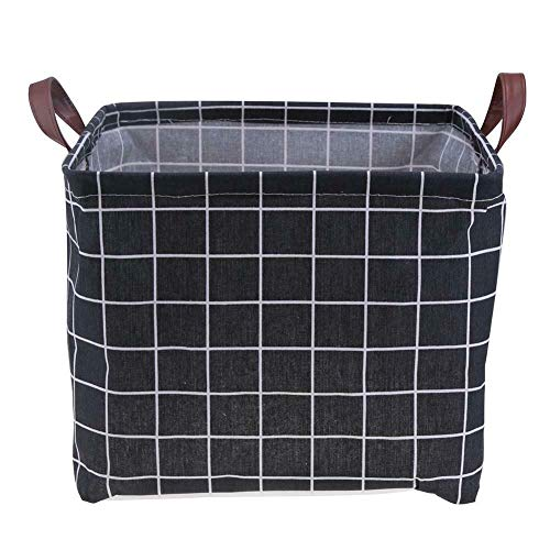 (MOPOLIS Canvas Folding Storage Closet Box Container Basket Organizer Home Organization (Size - Black 333330cm))